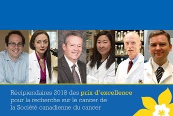 La SCC rend hommage aux meilleurs chercheurs dans le domaine de la recherche sur le cancer au Canada