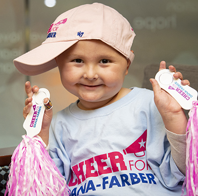 Dana-Farber patient Isabella is the Patient Partner for Cheer for Dana-Farber