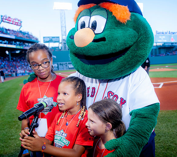 Dana-Farber patients at Fenway Park