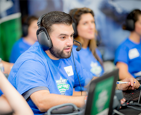 Volunteers answer phones at Radio-Telethon