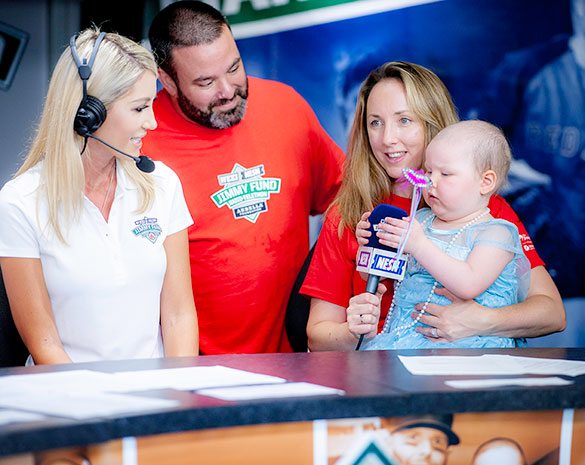 Young Dana-Farber patient and her parents interviewed on NESN