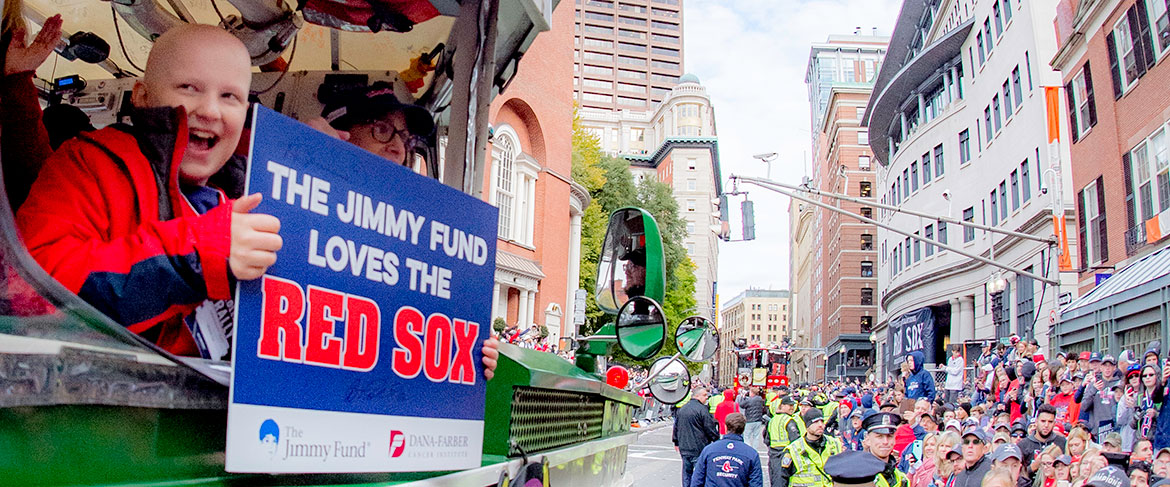 Young Dana-Farber patient cheers on the Red Sox