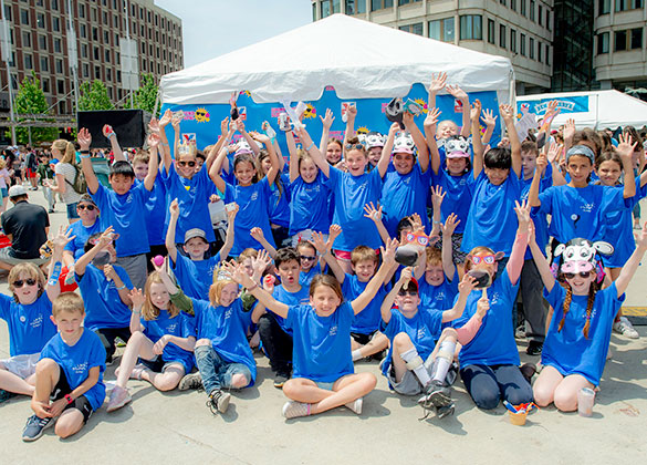 Scooper Schools participants celebrate at Jimmy Fund Scooper Bowl