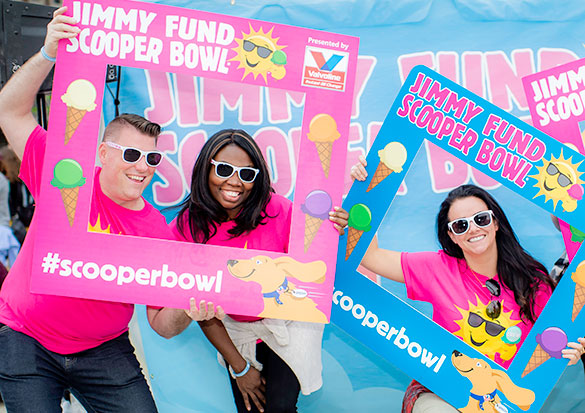 Scooper Bowl participants celebrate at Jimmy Fund Scooper Bowl
