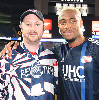 Dana-Farber Patient and soccer fanatic Phil meets New England Revolution player
