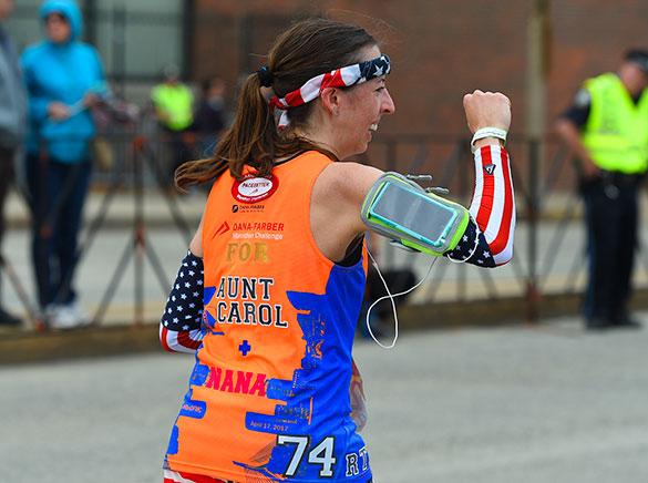 Dana-Farber Marathon Challenge runner
