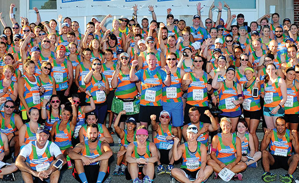 Participants in the New Balance Falmouth Road Race to support Dana-Farber