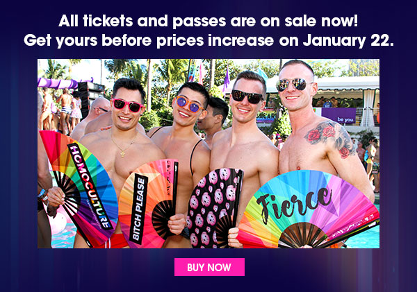 All tickets and passes are on sale now! Get yours before prices increase on January 22. Buy Now.