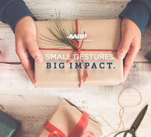 Gift in hands. Small Guestures. Big Impact.