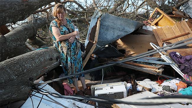 Hurricane Michael devastation in Panama City, FL.