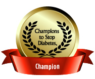 Champion Badge: Earned for achieving fundraising goal of $1000 or more