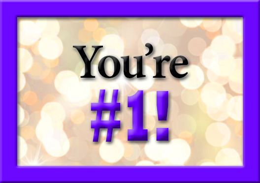 You're #1