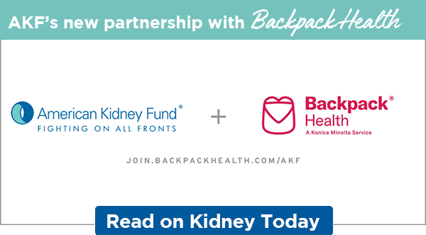 AKF's new partnership with Backpack Health   Read on Kidney Today