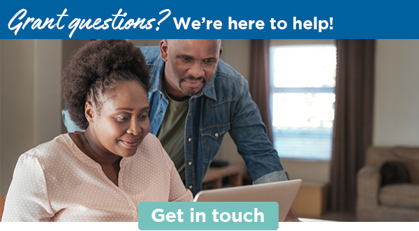 Grant questions? We're here to help! | Get in touch