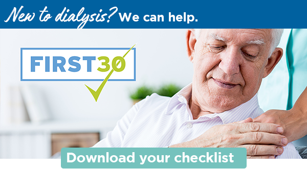 New to dialysis? We can help.   Download your checklist