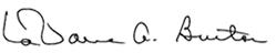LaVarne A. Burton Signature