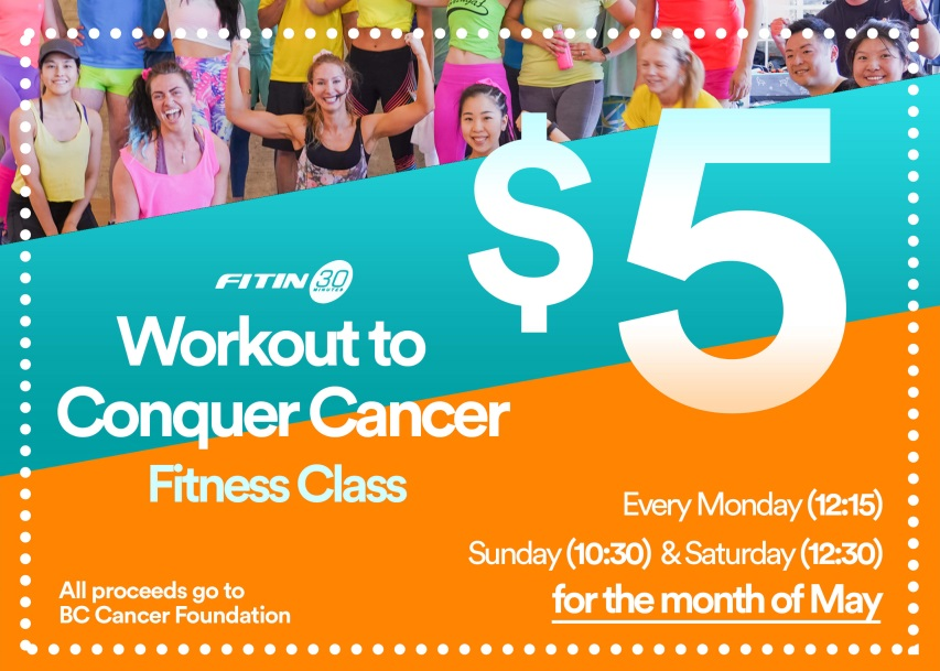 Fit in 30 - $5 donation classes all month!