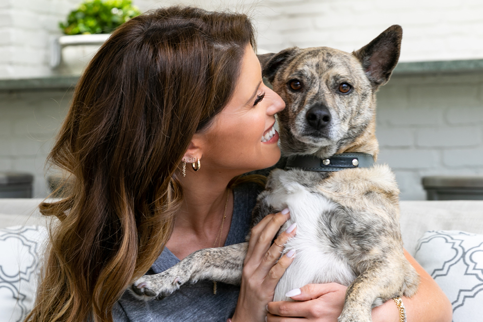 Katherine Schwarzenegger and her dog Maverick