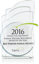 2016 Harris Poll EquiTrend® Study Animal Welfare Non-Profit Brand of the Year and the Most Trusted Brand