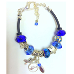 Apraxia Awareness Charm Bead Bracelet