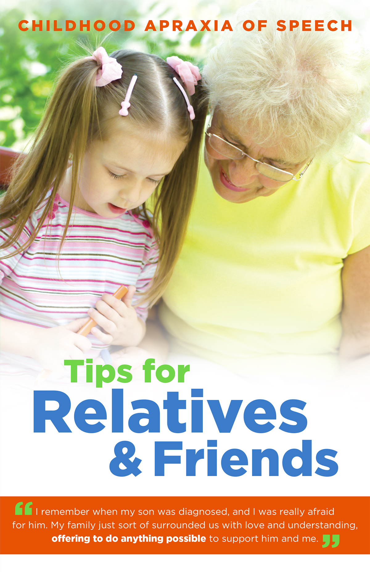 Tips for Relatives and Friends about Apraxia