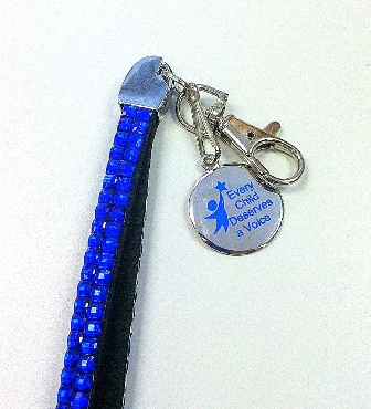 "Apraxia ""Bling"" Key Chain Wristlet"