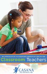 Guide For Classroom Teachers About Apraxia Booklet (pack of