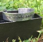 Click here for more information about Cuff Bracelet (small) - Every Child Deserves a Voice