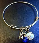 Click here for more information about New Apraxia Awareness Silver Bangle