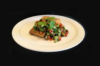 Salmon and kiwi salsa
