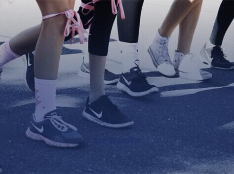Runners' feet