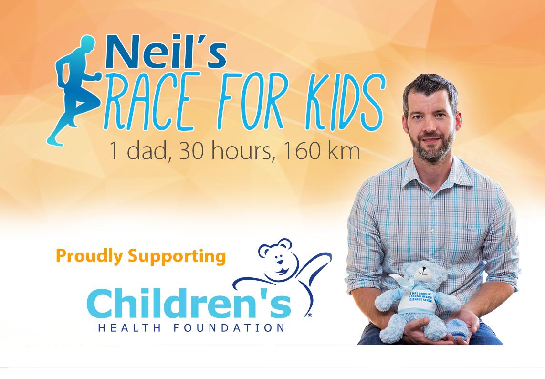 Neil's 160 km Race for Kids