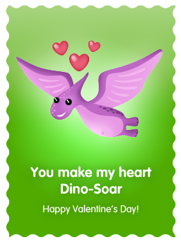 You make my heart Dino-Soar