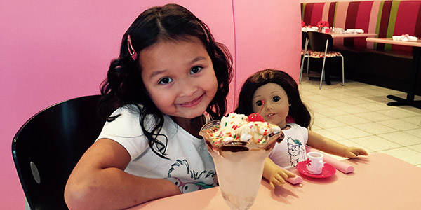 American Girl Sundaes on Sunday