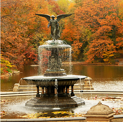 Bethesda Fountain in Fall