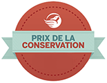 Conservation award logo in french