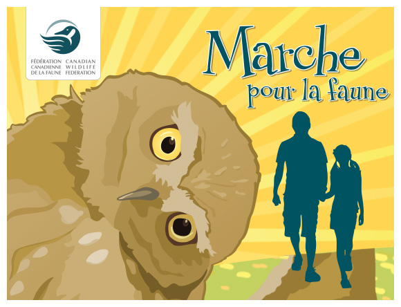 Walk for Wildlife logo in French