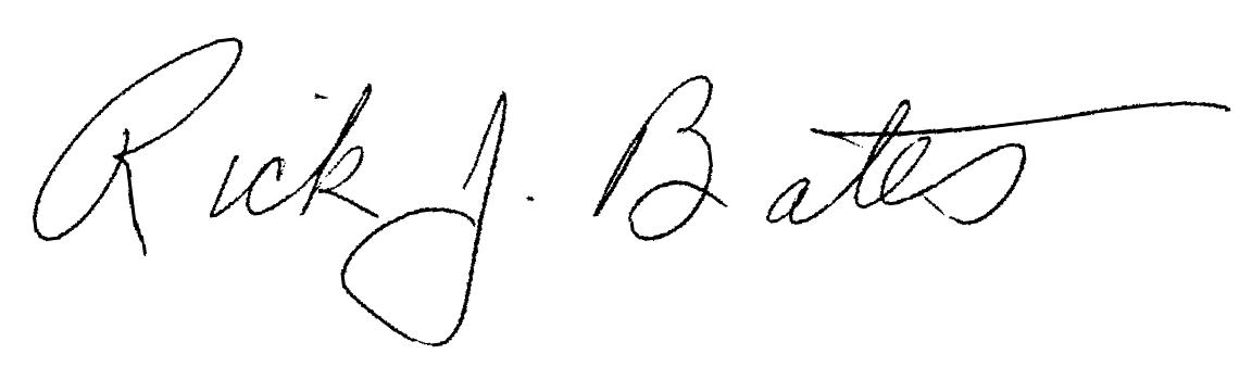 Rick Bates signature