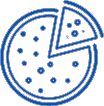 Pizza party fundraiser icon