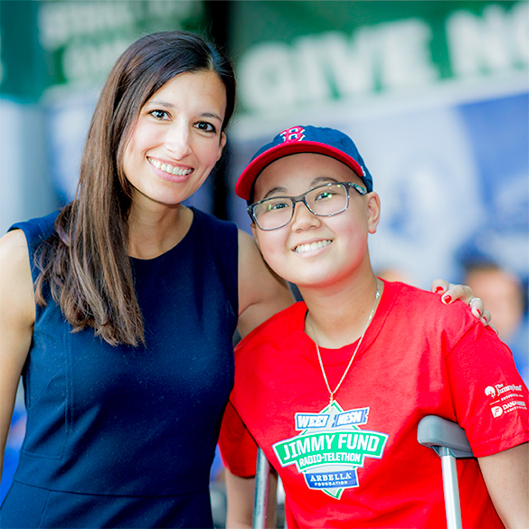 A Dana-Farber patient and her doctor