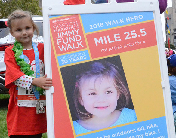 2018 Boston Marathon Jimmy Fund Walk Hero and Patient Partner