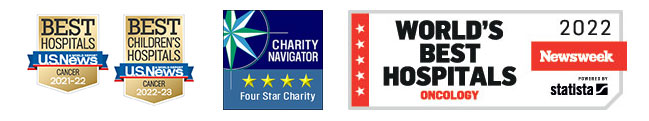 US News badges, Charity Navigator logo, and Newsweek badge