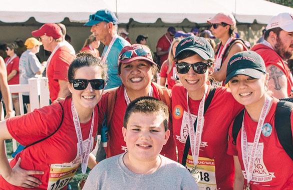 2018 Boston Marathon Jimmy Fund Walk corporate Dana-Farber employee team