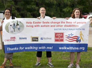 Easter Seals Walk With Me participants