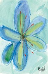'Blue Lily' by Rhashid Wilborn
