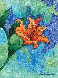 'Orange Burst' by Maria Saracino