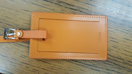 luggage tag front view