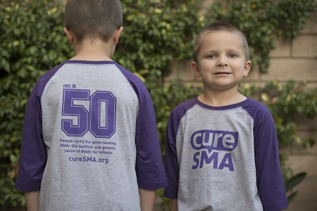 Cure SMA Youth Baseball Tee Main Image