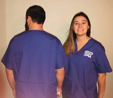 Scrub V-neck back