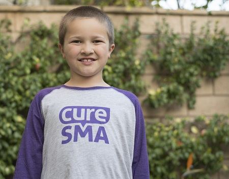 Cure SMA Youth Baseball Tee Front